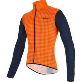 Santini Nebula Windbreaker Men fluo orange